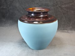 Copper_Teal Traditional Vase