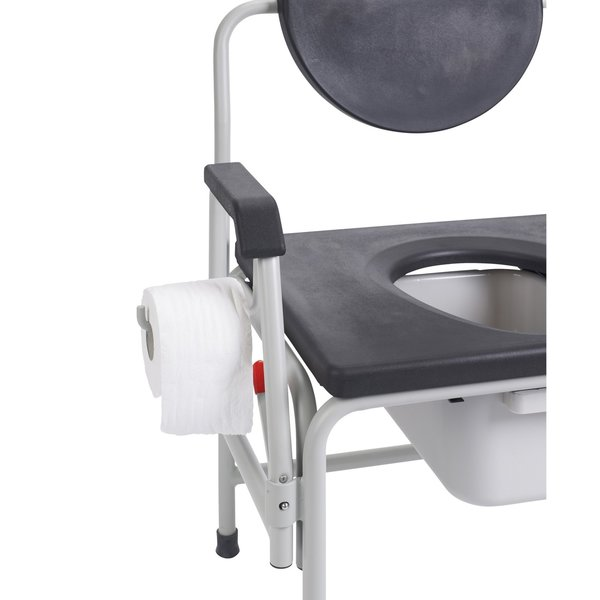 Bariatric Drop Arm Bedside Commode Seat - 11138-1