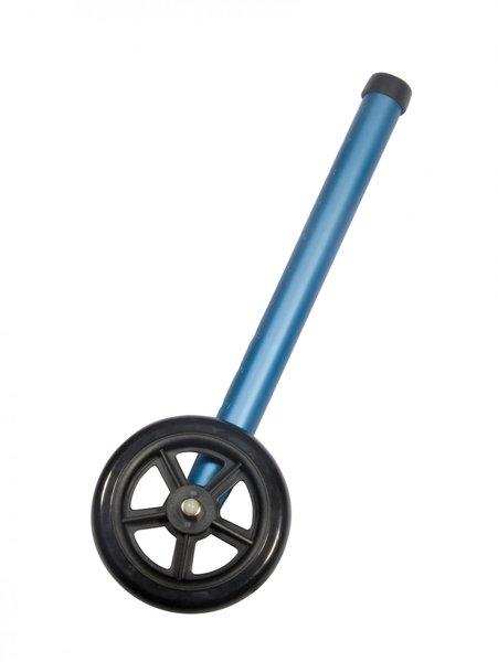 """5"""" Blue Walker Wheels with Two Sets of Rear Glides for Use with Universal Walker - 10128bl"""