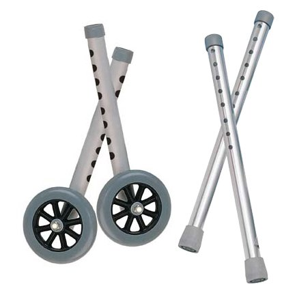 """Extended Height 5"""" Walker Wheels and Legs Combo Pack - 10108wc"""