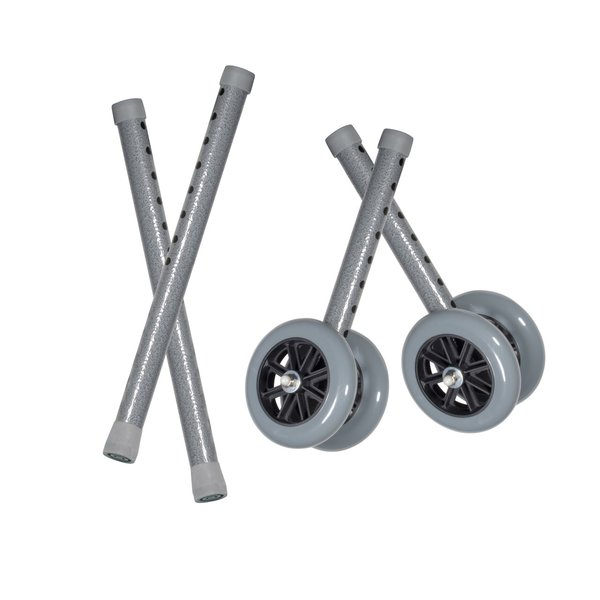 """Heavy Duty Bariatric 5"""" Walker Wheels with Extension Legs - 10118csv"""
