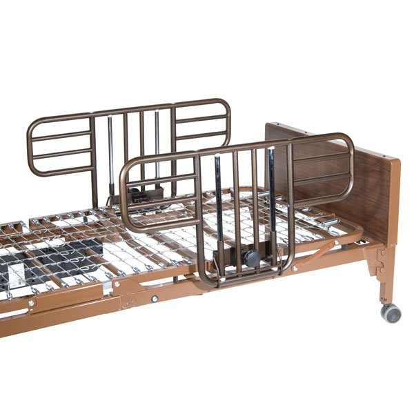 Multi Height Manual Hospital Bed with Half Rails - 15003bv-hr