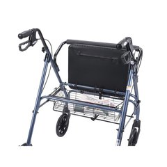 Heavy Duty Bariatric Blue Rollator Walker with Large Padded Seat - 10215bl-1
