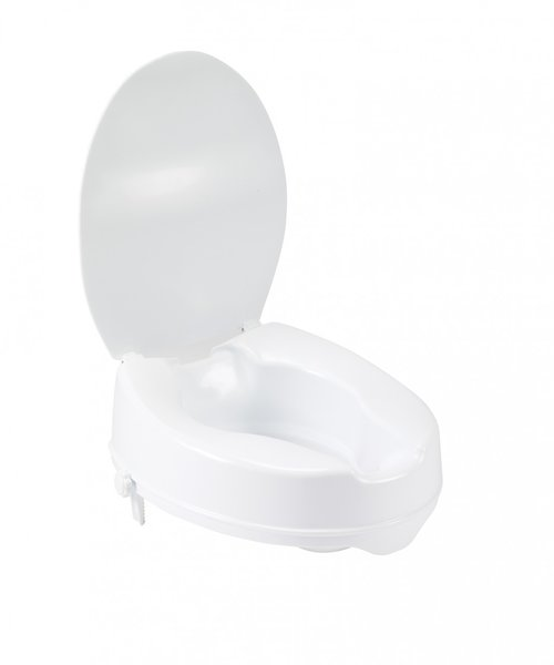 Raised Toilet Seat with Lock and Lid - 12065