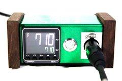 E-Wax Mini Walnut Metal Flake Green