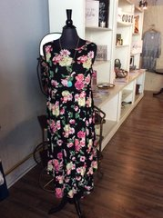 Black/Yellow Floral Dress (PS129)