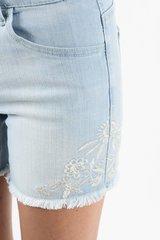 Light Denim KanCan Shorts w/Embroidery (SDB41)