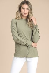 Moss Top with Lace Up Sleeve (T917)