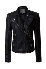 Black Moto Jacket (J34)