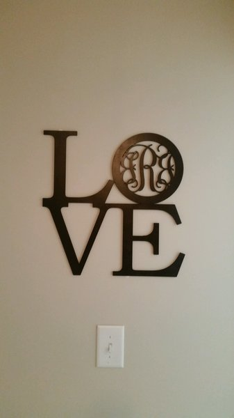 love with 3 letter monogram