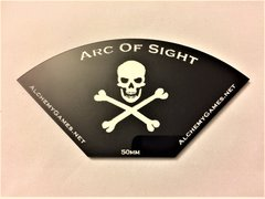 Acrylic Arc of Sight - Skull and Bones