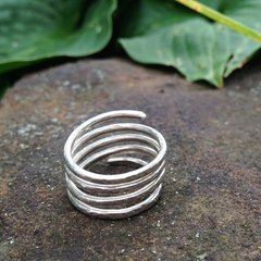 Handmade Silver Spring Cosmos Spiral Ring with Custom Variation