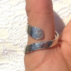 Heavy Silver Open Spiral Band with Custom Variation