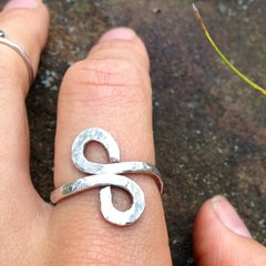 Handmade Silver Infinity Spiral Ring with Custom Variation
