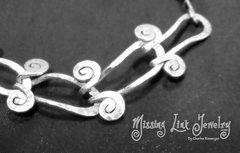 Silver Egyptian Spiral Link Wristlet or Anklet