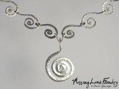 Sterling Large Serpantine Spiral Necklace