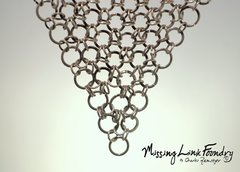 Handmade Sterling Chainmail Mesh Necklace