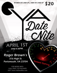 PAST EVENT-Speed Dating Event- April 1, 2017-Women 30+ Men 40+