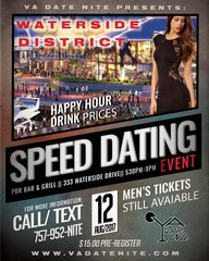 PAST EVENT-Speed Dating Event- August 12, 2017-SOLD OUT!