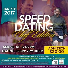 PAST EVENT-Speed Dating Event-Chef Edition- January 14, 2017