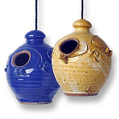 Stoneware Nesting Jar Bird House