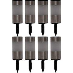 Stainless Steel Tube Solar Lights (Set of 8)