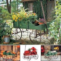 Decorative Wagon Garden Planter