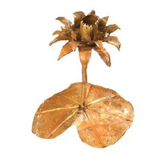 Solid Copper Lotus Dripper Fountain