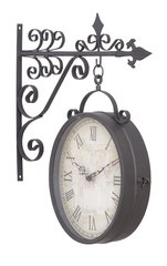 Metal Outdoor Double Sided Train Station Clock