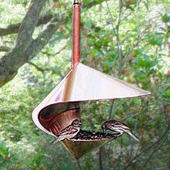 Copper Spiral Bird Feeder