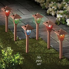 Set of 6 Solar Color Changing Path Lights