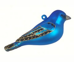 Hand Blown and Painted Bird Ornaments