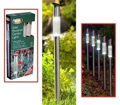 Outdoor Garden Stainless Steel Solar Lights 4 pack