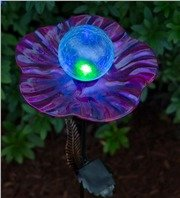 Solar Glass Lily Pad Stakes
