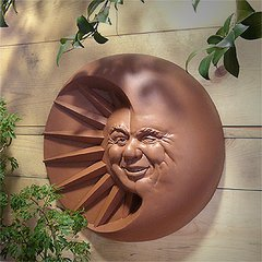 Celestial Smile Sun and Moon Plaque