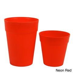 Neon Plastic Garden Pots (Sets of 2)