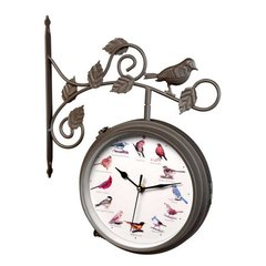 Outdoor Singing Bird Clock and Thermometer  Combo