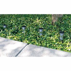 4pc Stainless Steel Solar Garden Accent, Path, Light Set