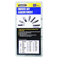 80 Piece Driver Bit Assortment