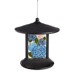 Garden Hydrangea in Bloom Solar Hanging Bird Feeder