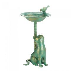 Aluminum Cat Birdbath