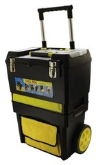Rolling Work Shop With Part Bins/Accessory Drawer/Removable Tray And Bag