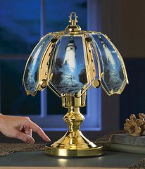 Nautical Lighthouse Glass Touch Lamp