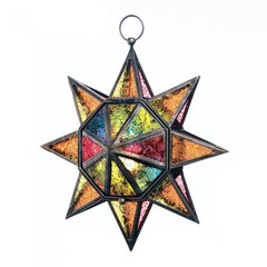 Multi Faceted, Star Candle Lanterns