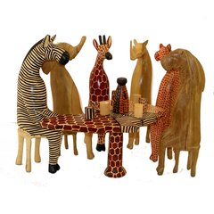 Hand Carved and Painted Party Animal Set