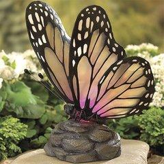 Solar Butterfly Garden Light Fixture