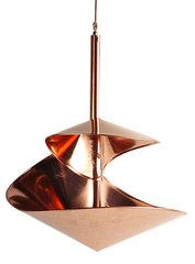 Copper Spiral Birdbath