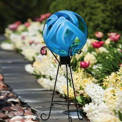 """Earth Globe 10"""" Gazing Ball with Stand"""
