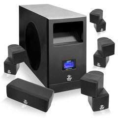 5.1 Home Theater Speaker System With Active Subwoofer, center and Four Satellite Speakers