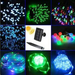 200 LED Solar Powered String Lights   8 Color Choices